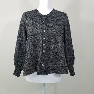 DKNY Gold Short Button Down Cardigan Size M